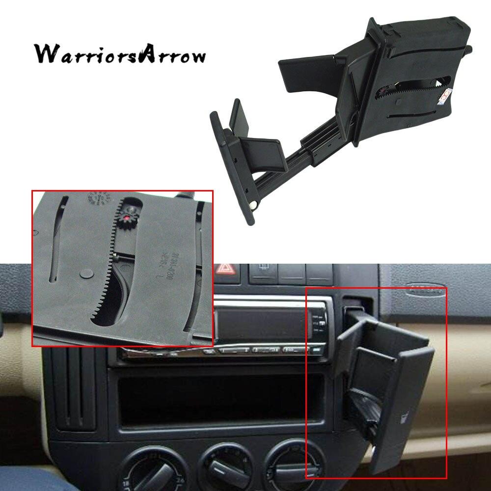 WarriorsArrow Black Car Cup Holder Dashboard Cup Holder For VW Polo 9N 2002 2003 2004 2005 2006 2007 2008 2009 2010 6Q0858602E