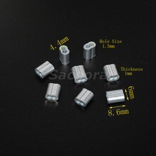 "5000 teile/paket 1/16 ""(1,5mm) Aluminium Kabel Crimps Ärmeln Seil Clip Armaturen Schleife Hülse"