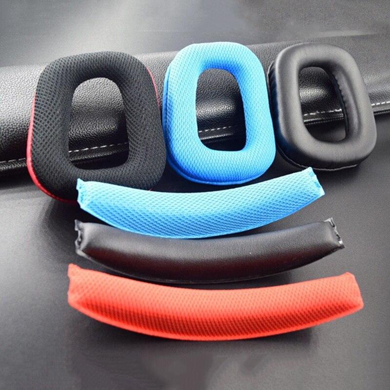 Capas de almofadas para Logitech G35, G930, G430 F450 fone de ouvido, de substituição de ouvido feixe cabeça esponja