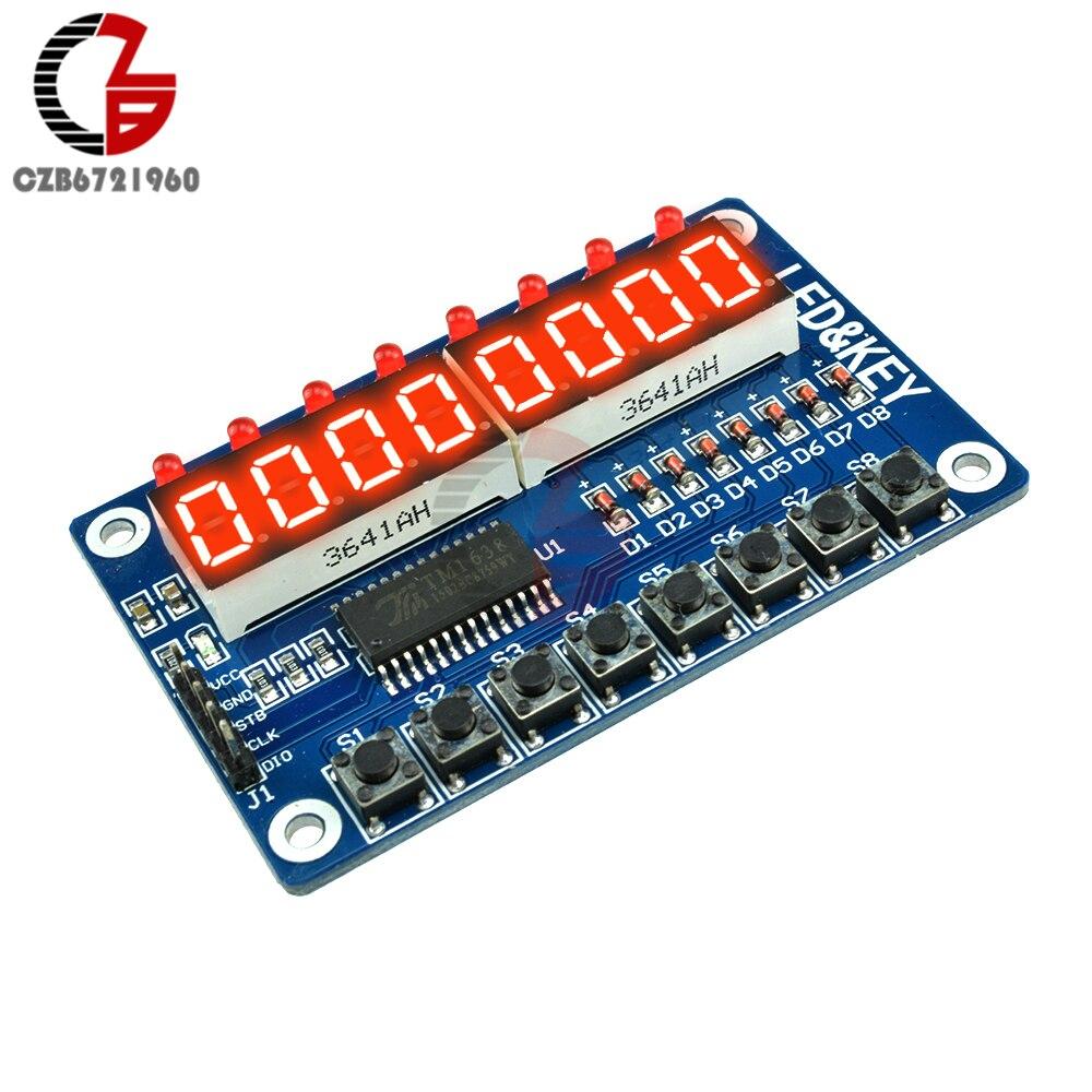 8-Bit LED 8-Bit tubo Digital 8 teclas TM1638 Módulo de pantalla para AVR para Arduino ARM
