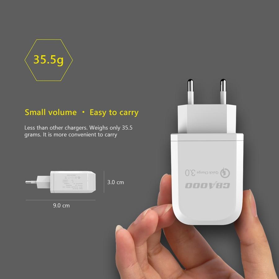 Chargeur USB CBAOOO chargement rapide QC 3.0 chargeur mural intelligent rapide 2 USB pour Xiaomi Samsung Huawei chargeur adaptateur téléphone portable