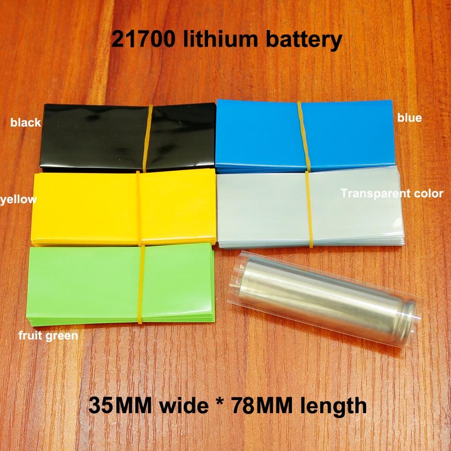 100 sztuk/partia 21700 bateria litowa Pvc termokurczliwe skóra foliowa opakowania termokurczliwe izolacyjne
