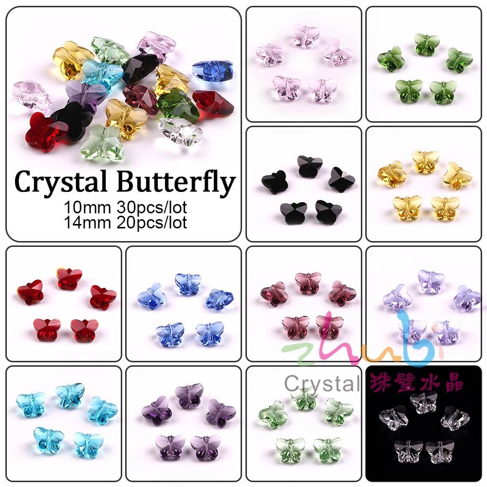 Colgantes de mariposa de cristal austriaco para mujer, cuentas de cristal verdes...