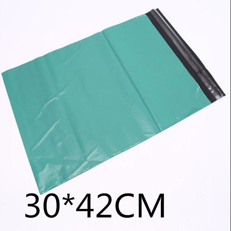 30*42cm (11.82 bags * * 16.54) verde auto selo mailer grandes sacos poli envelope plástico correio destrutivo sacos de correio postal