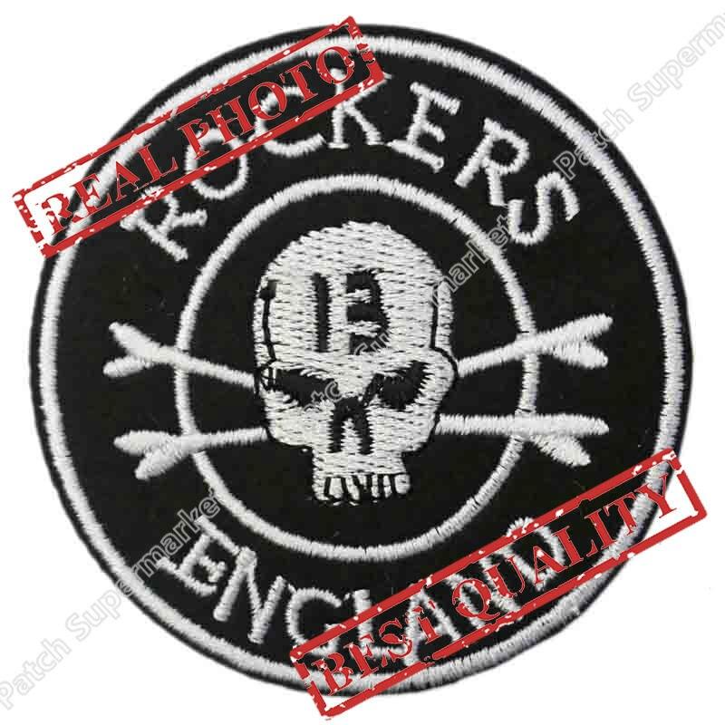 ROCKERS Inglaterra 13 cráneo Cafe Racer 59 Chaleco de motorista tatuaje fresco aplique de hierro cosido parche personalizado insignia
