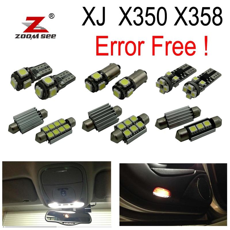26 шт. x Светодиодная лампа Внутренняя купольная карта для чтения дверного фонаря багажника комплект для Jaguar XJ X350 X358 XJ6 XJ8 XJR (2003-2009)
