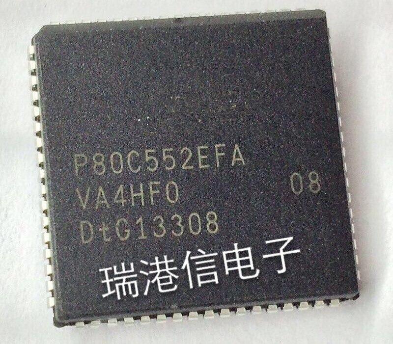 Frete grátis 10 PCS P80C552EFA P80C552 80C552 PLCC68 Alta qualidade Em estoque