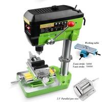 קידוח מכונת כרסום קטן Fresadora עיתונות שולחן טחנת מכונה 680W 220v רב-פונקציה תעשייתי חרוזים ביצוע כלי