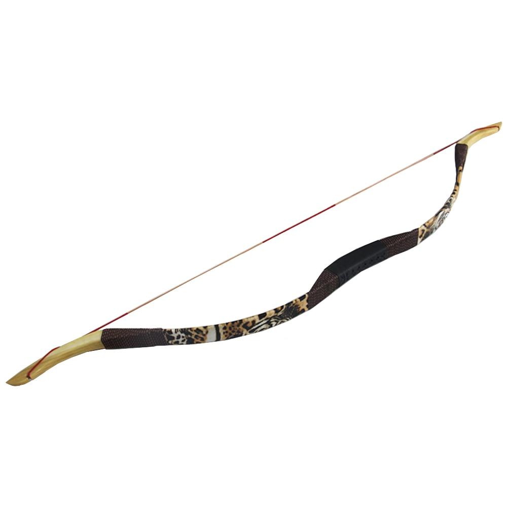 Arco recurvo tradicional hecho a mano de 30lb, arco de tiro con arco tradicional para adolescentes, para practicar la caza, para principiantes, envío aleatorio