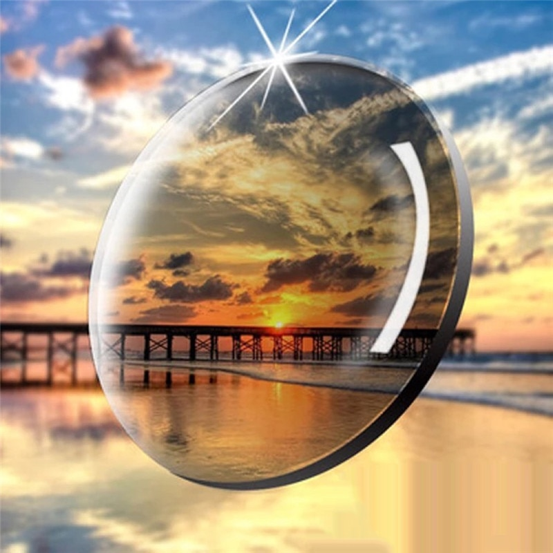 1.67 Aspherical Intelligent Photochromic Blue Light Blocking Resin Lens Myopia Presbyopia Astigmatism Optical Prescription Lens