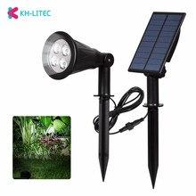 KHLITEC 4 LED Solar Strahler Wasserdichte Outdoor Garten Wand Lichter LED Solar Garden Lichter Solar licht Landschaft Lampe