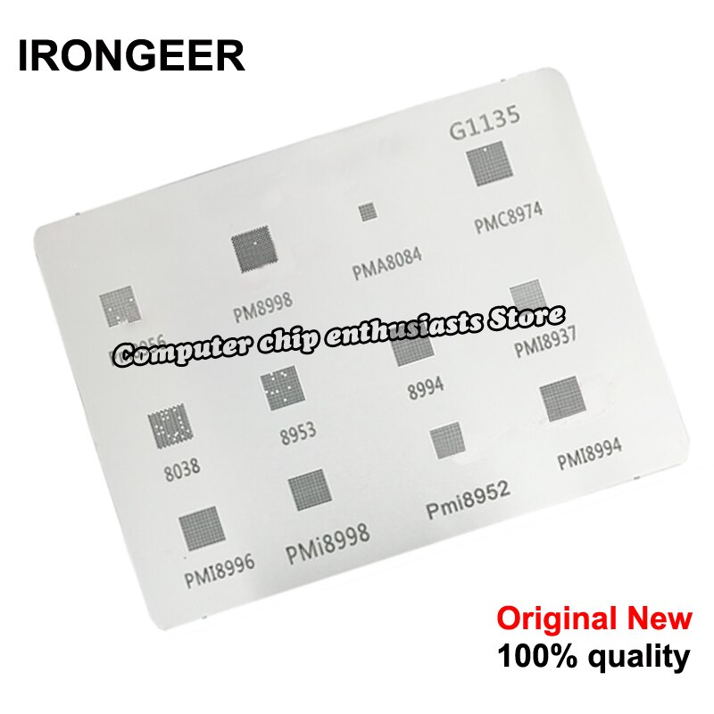 1 peça BGA reball stencil reballing para MTK xiaomi série G1062 G1135 PMC8974 PM8956 8998 PM8953 PM8994 PMI8994 PMI8952 PMI8937
