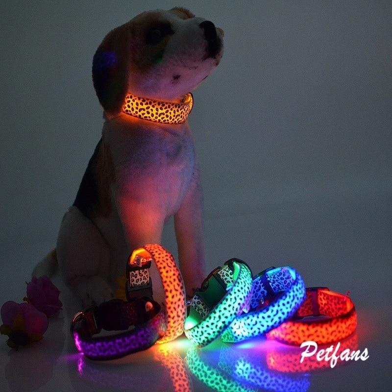 Collar de perro con luz LED brillante Collar de mascota perro Collar USB recargable Led ajustable Collar luminoso seguridad noche