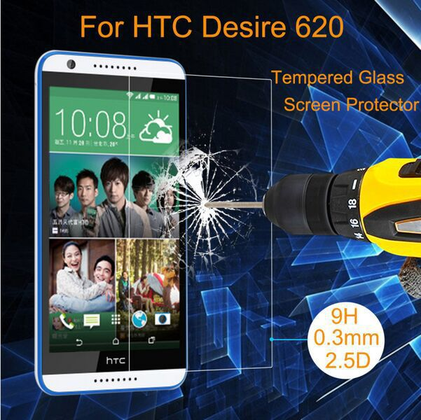 Seguridad Real vidrio templado transparente HD Anti rasguño 3 H para HTC deseo 620 620G pantalla Protector guardia de película