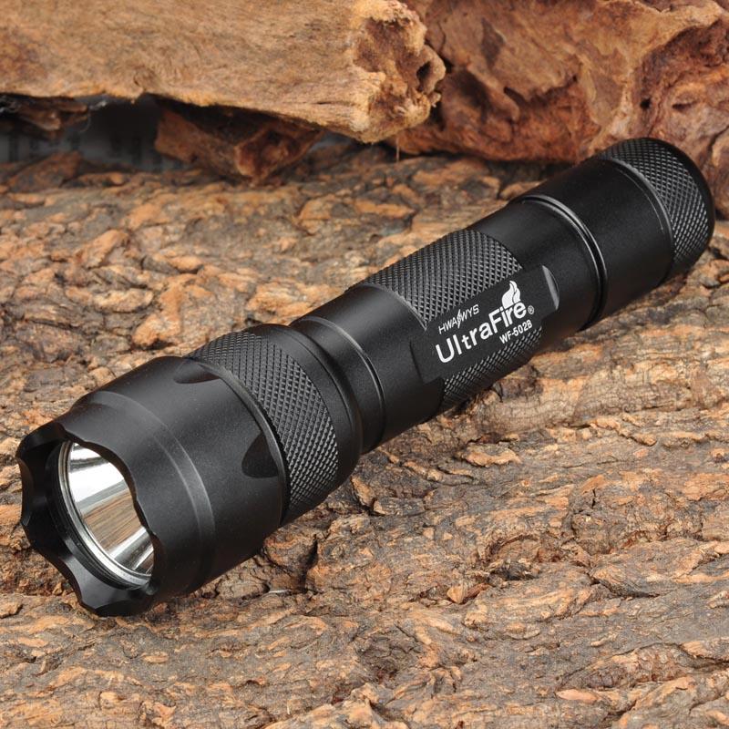 UltraFire-linterna LED portátil 502B CREE XM-LT6, linterna de 3 modos, para caza,...