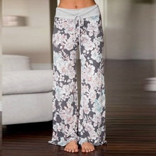 2019 Women ladies boho wide leg pants Sexy High Waist Flower Print Floral Wide Leg Pants newest style hot sale clothes summer