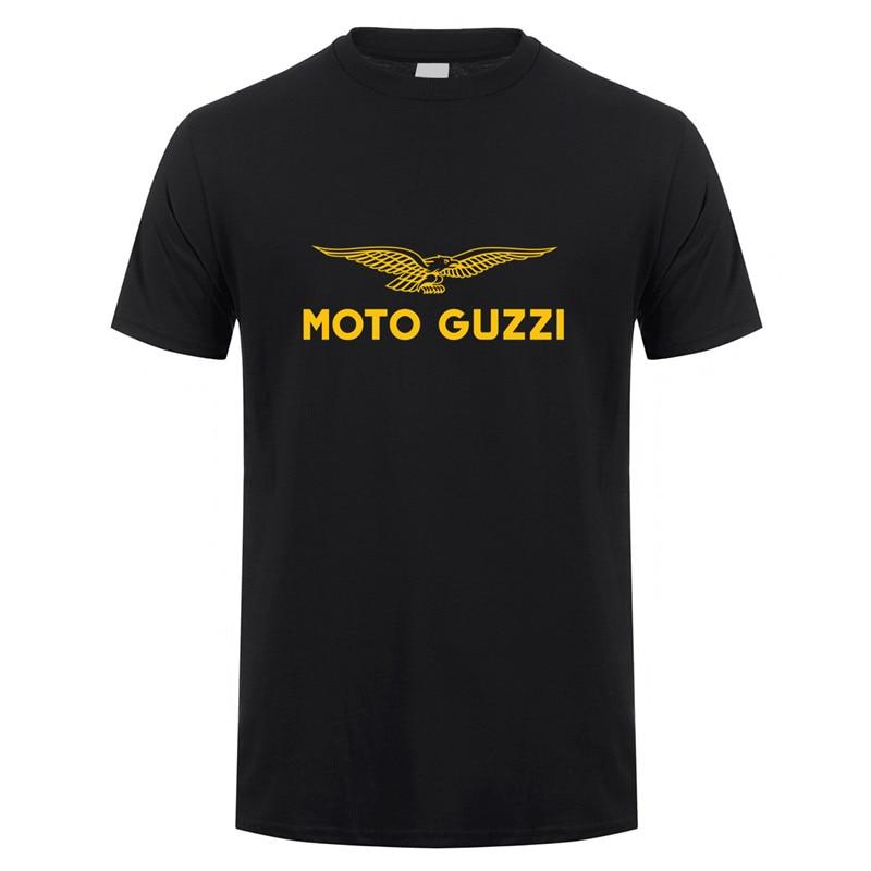 Футболка Moto Guzzi, летняя хлопковая футболка с коротким рукавом для мотоцикла, мужские футболки, LH-085
