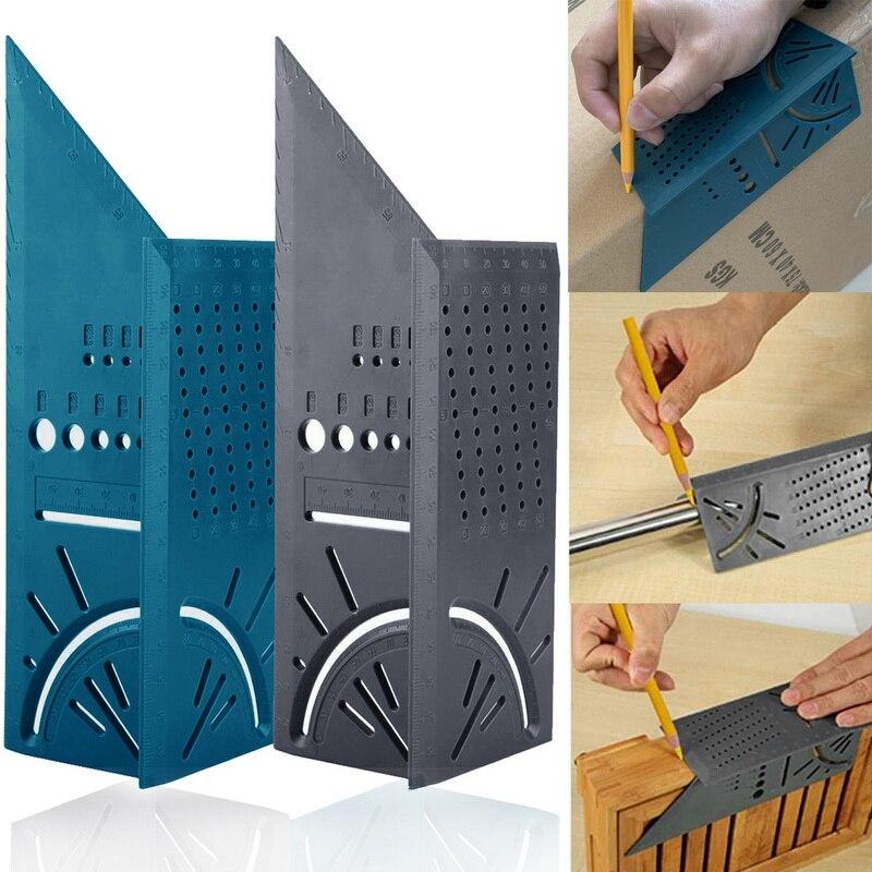 3D Угловой измерительный квадратный размер деревообрабатывающий измерительный инструмент линия 90 градусов датчик t-типа линейка Дырокол
