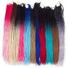 Tresses synthétiques noires brunes-qp hair   Tresses douces au Crochet de 24 pouces, tresses à haute température, extension capillaire Fib