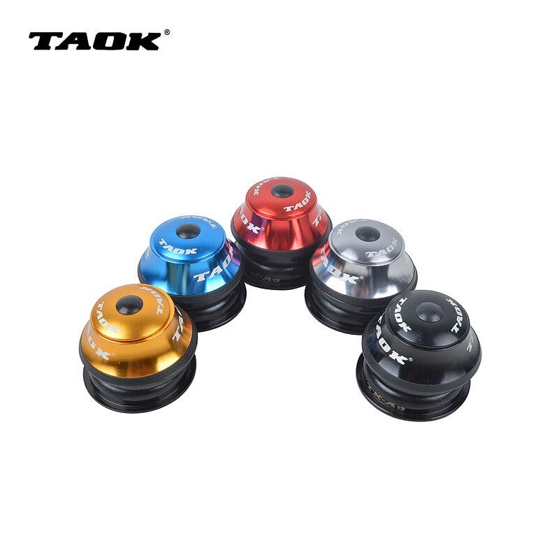 TAOK 44mm MTB bicicletas de montaña bicicletas de carretera Cojinete de bolas incorporado auricular Bowl externo arandela de muñeca piezas de cabeza envío gratis