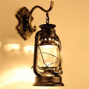 LAIDEYI ретро настенный светильник, винтажные стеклянные европейские керосиновые лампы, прикроватный светильник для бара, кофейни, ванной комнаты, домашний светодиодный светильник s