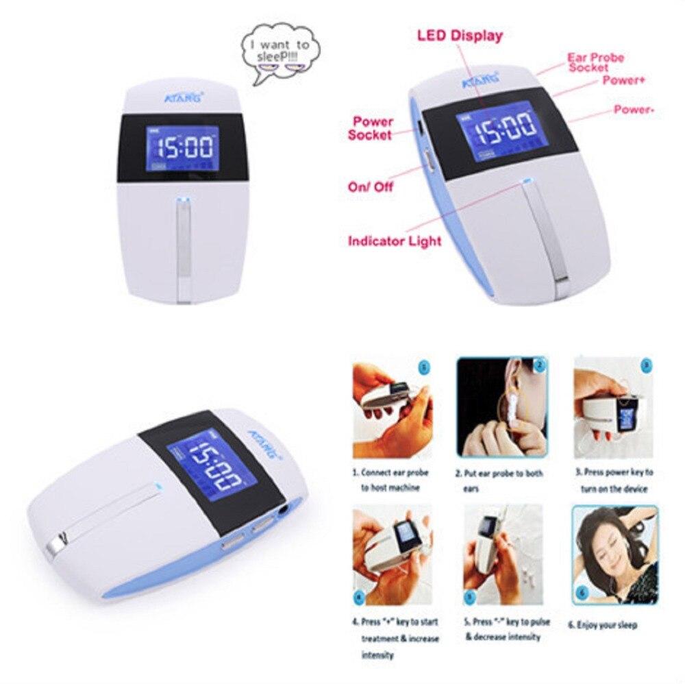 Dispositivo de ayuda para el sueño para el cuidado del hogar ATANG, estimulador electrónico para el insomnio, terapia de pulso de baja frecuencia para la ansiedad