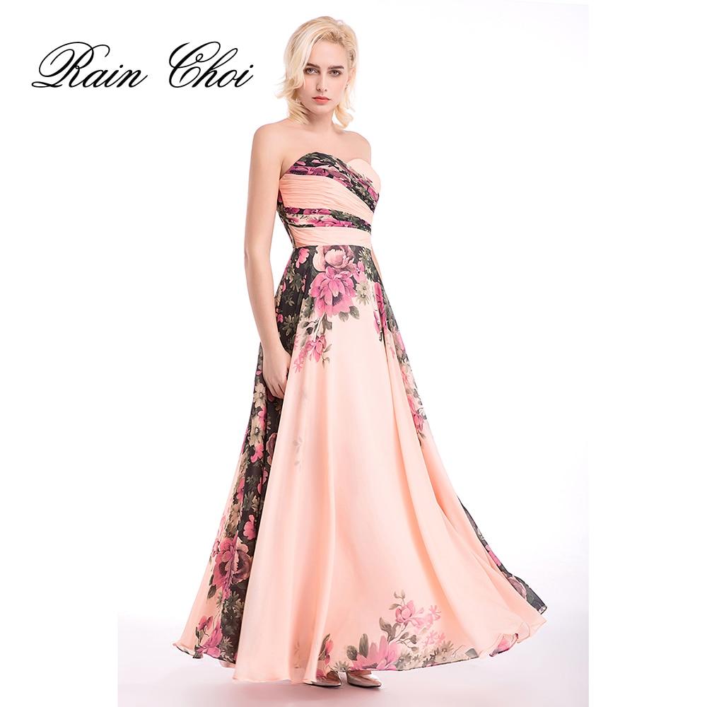 Длинные вечерние платья из шифона с цветочным узором и милым принтом; элегантные строгие вечерние платья; платья для свадебной вечеринки
