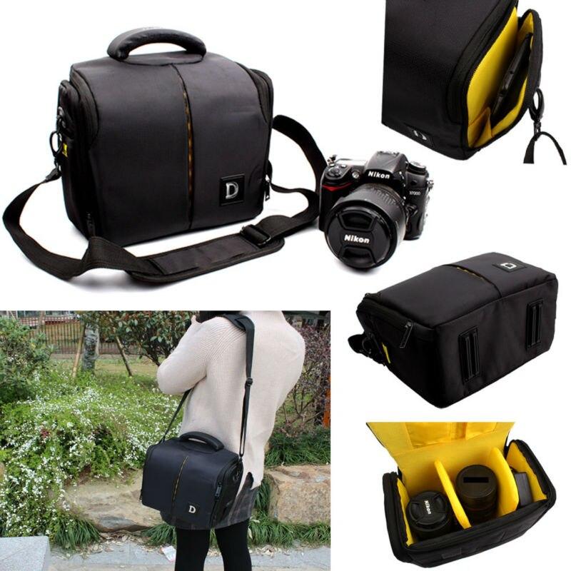 Impermeable bolso de la cámara para Nikon D3400 D3300 D3200 D5100 D7100 D5200 D5300 D90 D7000 D610 P900 P520 D750 D7200 + correa + cubierta de la lluvia