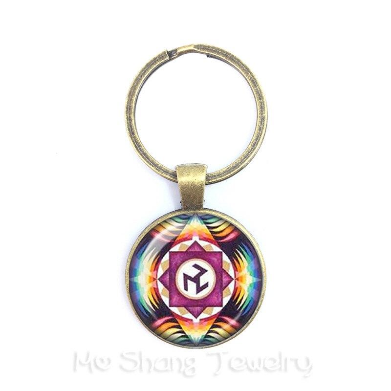 Heiligen Geometrie Antahkarana Symbol Schlüsselanhänger Anhänger Schlüsselring Für Wome Männer Chakra Anhänger Meditation Schmuck