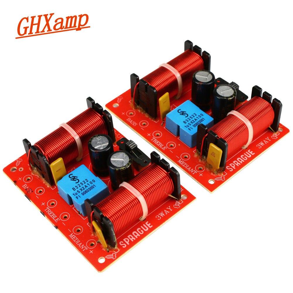 GHXAMP 150 Вт 3-полосный кроссовер динамик басовый твитер Средний для 10-дюймового НЧ-динамика домашний кинотеатр фильтр 12дб 45 Гц-20 кГц 2 шт