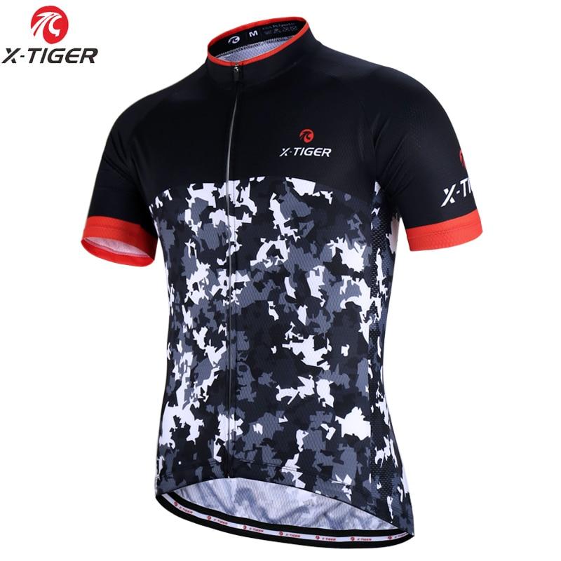 X-TIGER de verano para Hombre, Ropa deportiva para Ciclismo de montaña, Maillot para Hombre, Ropa de Ciclismo