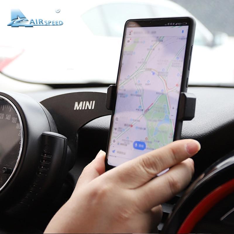 Airspeed мини кронштейн Авто Руль телефон крепление Автомобильный держатель для мобильного телефона крепление для MINI Cooper F60 Countryman аксессуары
