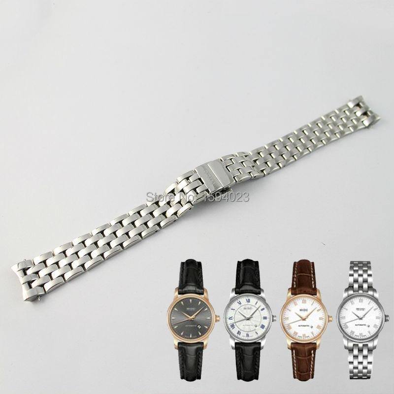 Pulseira de Relógio Inoxidável para Mido M7600 + Ferramentas Sólido Pulseiras Relógio Aço Lady Gratuitas 15mm M7600 316l