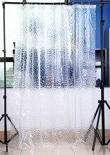 Cortina de ducha transparente 3D AGUA DE PEVA Cubo de ducha decoración del hogar escénica tela impermeable cortina de baño poliéster