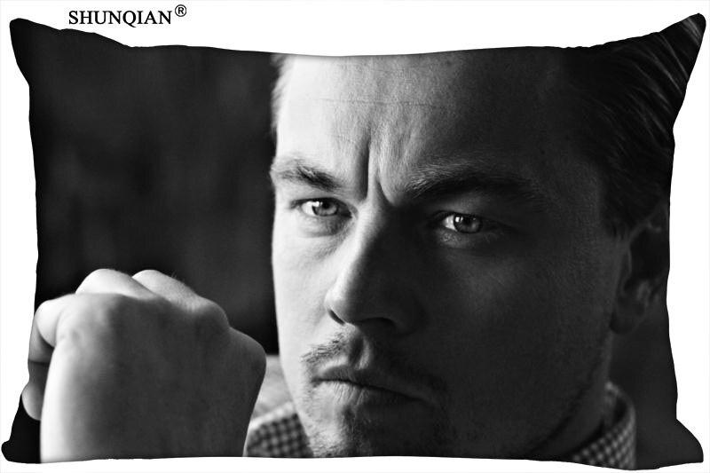 Funda de almohada personalizada de Leonardo DiCaprio, Actor encantador, fundas para almohada, tamaño estándar 20x30 pulgadas, más tamaño