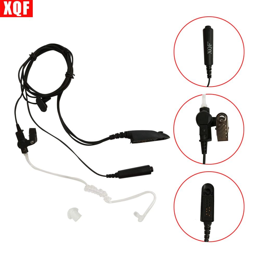 Auriculares XQF 10 Uds tubo de aire acústico auricular PTT para Motorola GP328 GP338 GP340 GP380 Radio Walkie Talkie