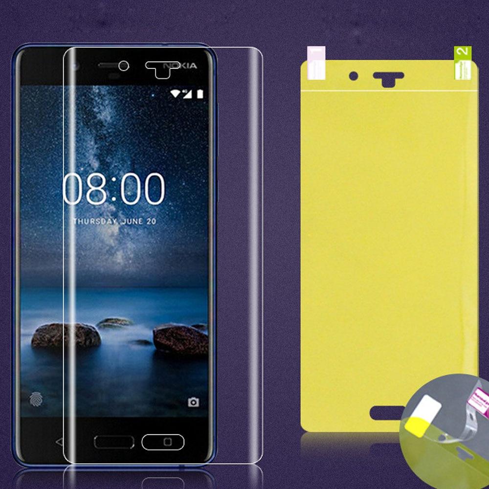 Película frontal de hidrogel suave para Nokia 8 Sirocco 8,1 pegamento total 3D 5D cobertura Protector de pantalla para Nokia 8,1 8 Sirocco TPU nano película