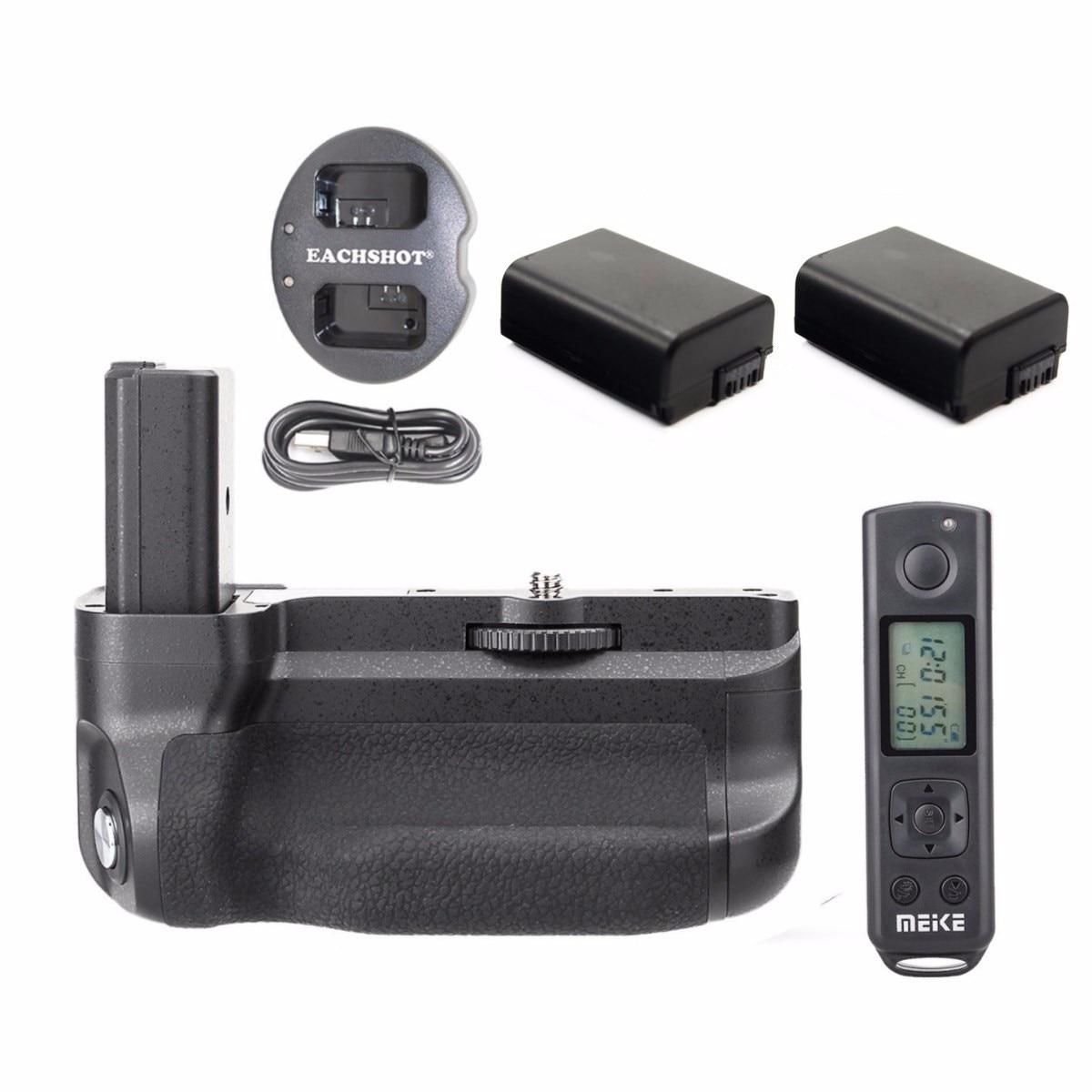 Беспроводная Батарейная ручка Meike MK-A6300 Pro 2,4G для Sony A6300 A6400 + 2 * NP-FW50 батареи + двойное зарядное устройство