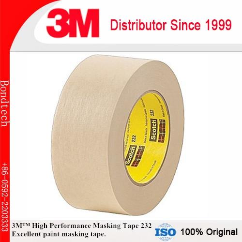 36mmX55M 3M 232 скотч высокая производительность маскирующая лента для средней температуры краски испечь операции