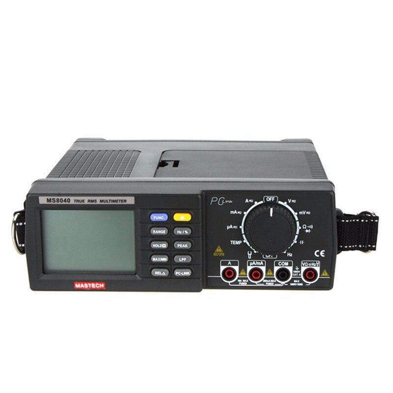 Multimetro Mastech MS8040 Multímetro Digital de Alta Precisão Voltímetro USB Tecrep Capacímetro Atual Tester de Diagnóstico-ferramenta
