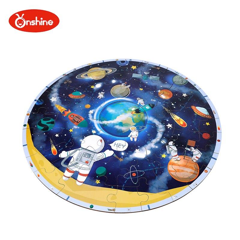 Rompecabezas de madera Onshine, rompecabezas del espacio, rompecabezas de mapa para niños, juguetes educativos para la primera infancia