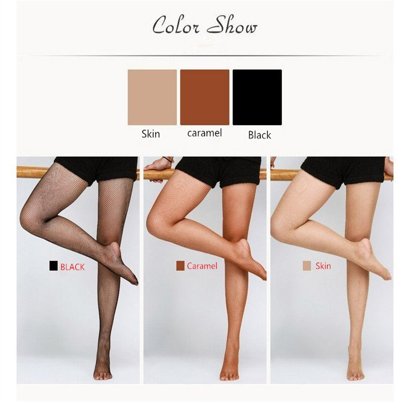 2017 New Adult Women Flesh-colored caramel Black Sexy Latin Dance Tights Fishnet Tights Pantyhose Dance Latin stockings