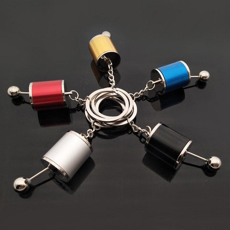 Neue Auto Getriebe Box Schlüssel Kette Schlüssel Ringe Imitation 6 Geschwindigkeit Manuelle Auto-styling Schaltknauf Shift Getriebe Stick schlüsselanhänger Geschenk