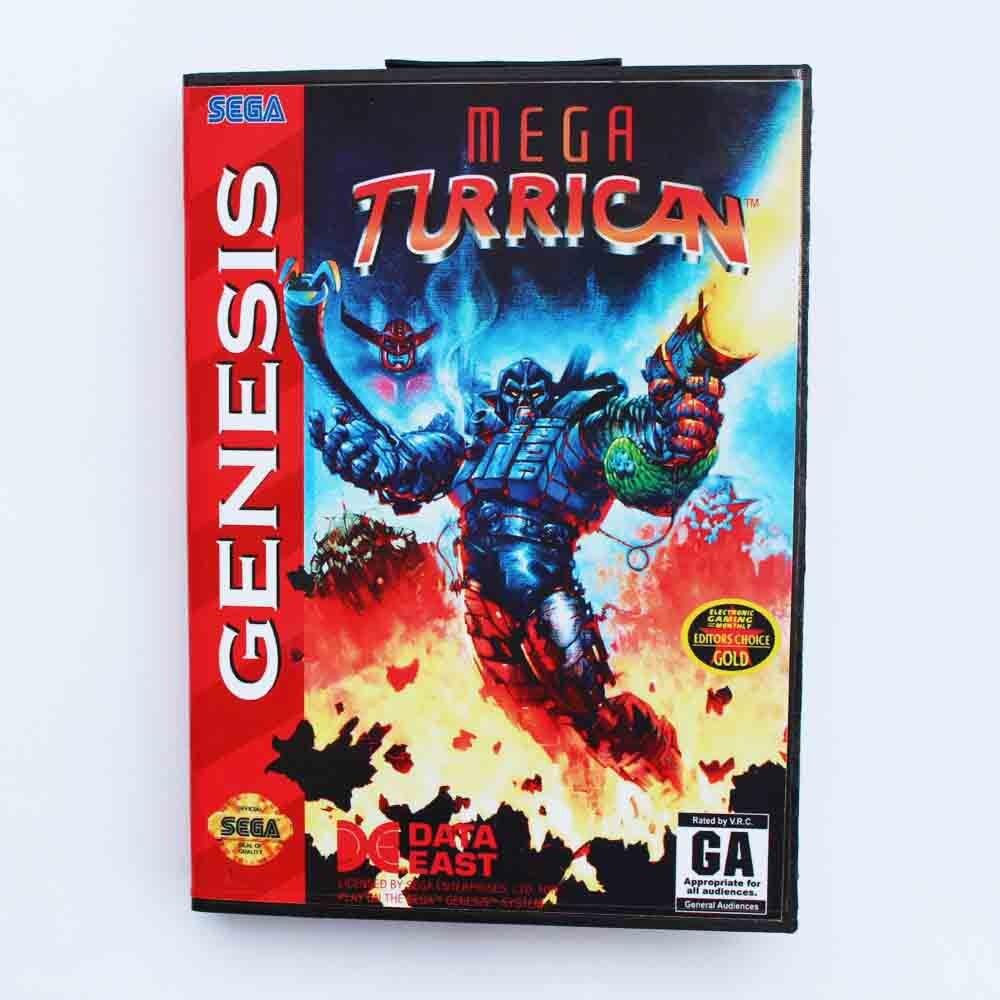 Mega cartucho de juego Turrican, 16 bits, tarjeta de juego MD con...