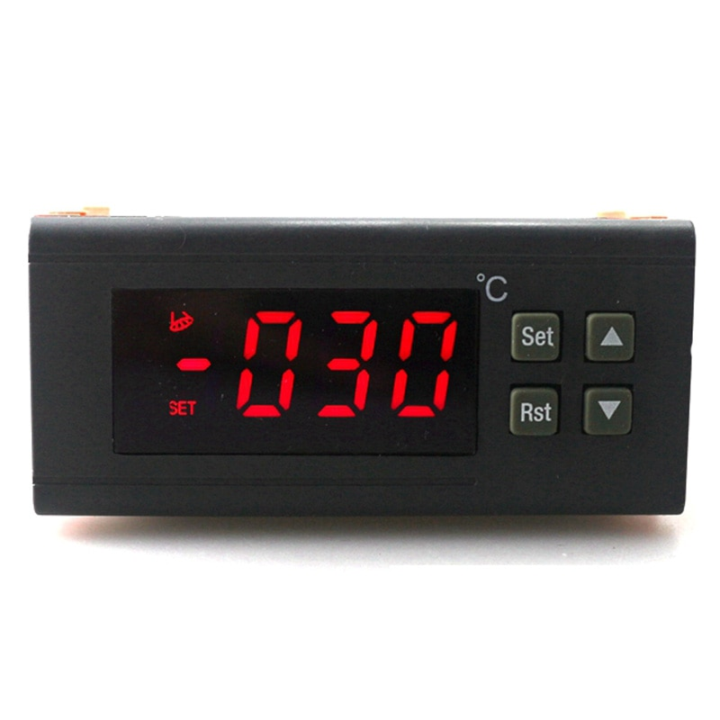 Controlador de temperatura Digital SHGO HOT-220V/30A Rc-114M salida de relé del termostato-30 ~ 300 grados con Sensor Ntc