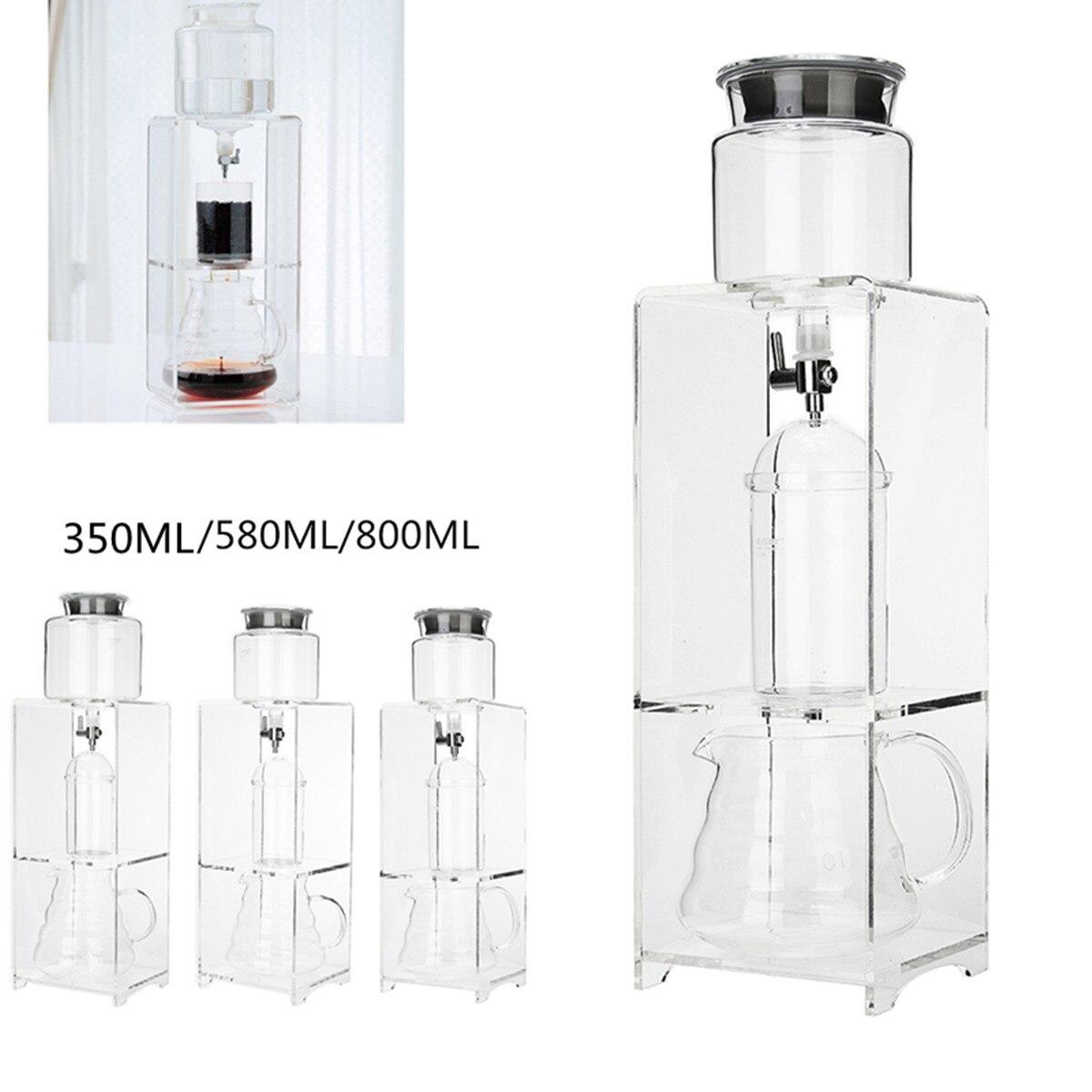 Glass Coffee Cold Drip Water Drip Coffee Maker Reusable Glass Filter  Espresso Coffee Dripper Pot Ice Cold Brew Coffee Machine