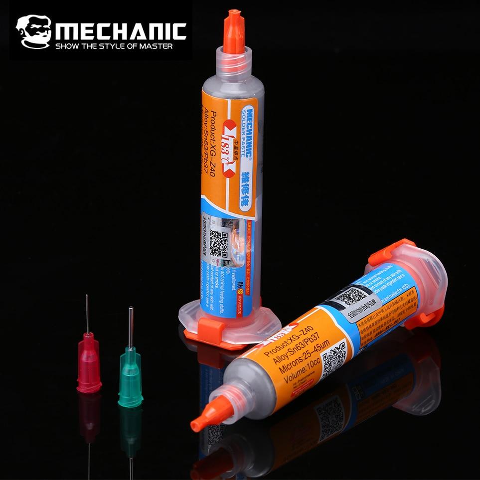 MECHANIKER BGA Solder Zinn Paste XG-Z40 Solder Paste Flux Sn63/Pb37 25-45um Löten Zinn Creme Spritze für Handy reparatur