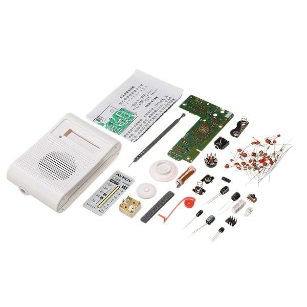 DIY Taşınabilir AM FM Radyo Seti 76-108 MHZ 525-1605 KHZ Elektronik Için Uygun Öğretim Ve Öğrenme
