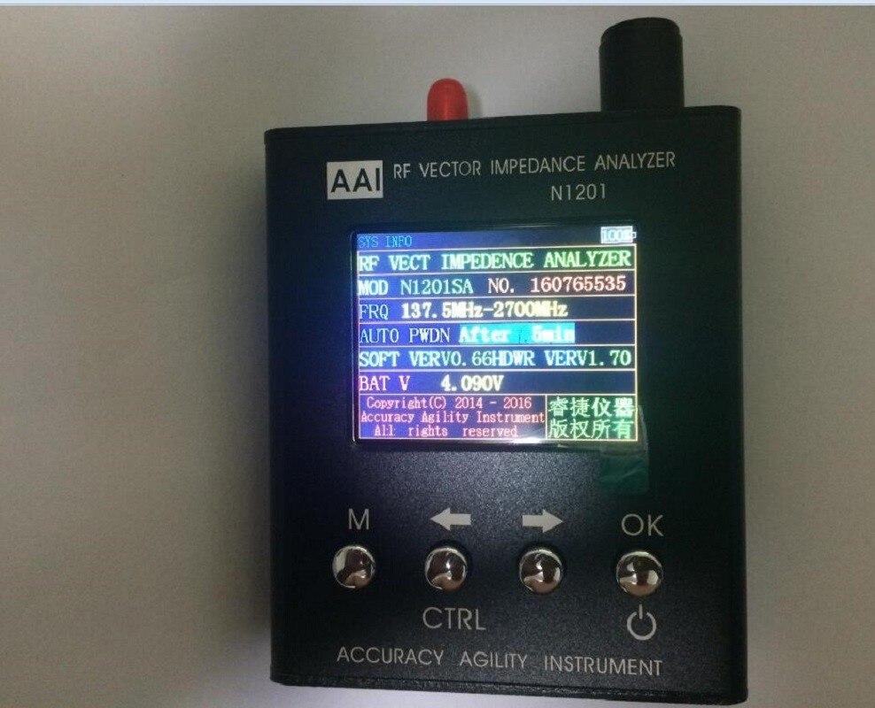 N1201SA 140 МГц-2,7 ГГц новый английский verison с enlished инструкция UV RF Vector сопротивление ANT SWR антенна анализатор Измеритель Тестер