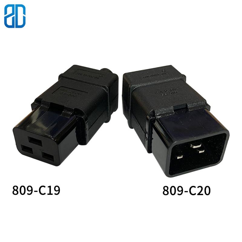 PDU/ups розетка стандарт IEC320 C19 C20 16A 250 В переменного тока Электрический Кабель питания Шнур Разъем Съемный разъем SS-809 SS-810